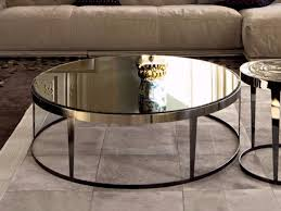 mirrored glass coffee table round mirrored glass coffee table amadeus mirrored glass coffee