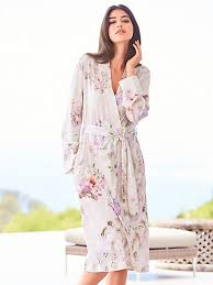 robe de chambre en féraud la robe de chambre en jersey crème lilas