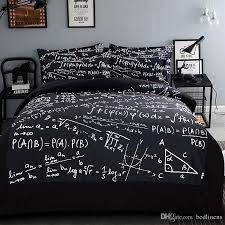 Full Size Duvet Covers Top Mathematics Geometry Printing Bedding Sets Fabric Cotton Twin