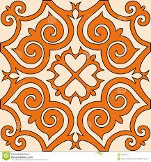 vector kazakh ornament pattern background stock vector image