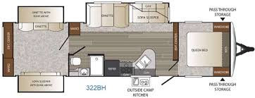 Bunkhouse Trailer Floor Plans Outback Travel Trailer Rv Sales 12 Floorplans