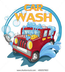 carwash red car wash foam water stock vector 490057903 shutterstock