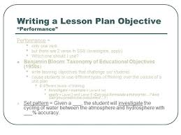 how do you write lesson plans static lesson planning for an