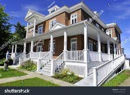 typical canadian house gaspesie quebec canada stock photo