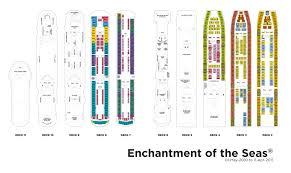deck plan 2 cruise enchantment of the sea pinterest deck
