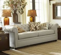 Chesterfield Tufted Sofa by Chesterfield Upholstered Sofa Pottery Barn
