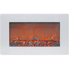 callisto 30 in wall mount electric fireplace in white with