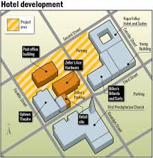 downtown napa hotel plan calls for merging zeller u0027s and former