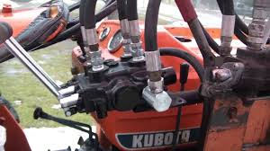 kubota loader valve youtube