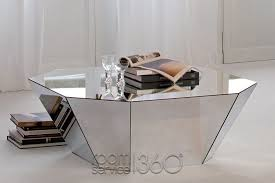 Mirror Glass Coffee Table by Otto Italian Modern Coffee Table By Cattelan Italia
