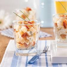 recette cuisine pomme de terre salade de pommes de terre et bacon en verrines recettes cuisine