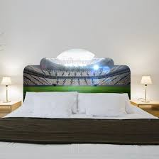 wall stickers u2013 headboard sticker football stadium for double bed