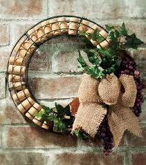 the recycled wine corks and grapes work great together in this