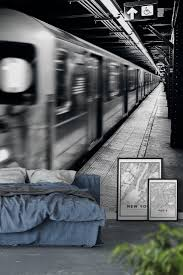 new york subway wall mural wallpaper city wall murals new york subway wall mural wallpaper