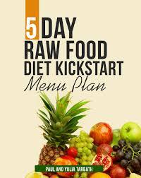 5 day raw food menu plan rawsomehealthy