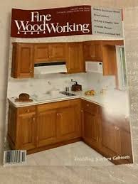 building kitchen cabinets details about woodworking magazine diy build october 1990 building kitchen cabinets
