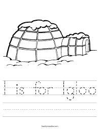 i is for igloo worksheet twisty noodle