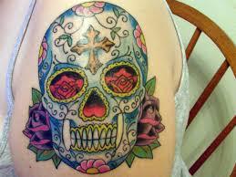 sugar skull meaning cool tattoos bonbaden