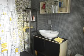 Grey Tile Bathroom by Gray White And Yellow Blend Brio Mosaic Glass Tile City Sunshine