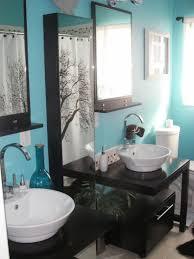 navy blue bathroom decor chevron floor tile wall mount shower head