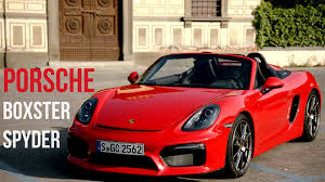 porsche boxster spyder 2016 2016 porsche boxster spyder guards red youtube