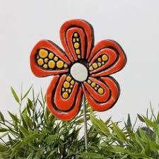 flower plant stake garden ornament flowers and trees
