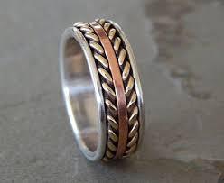 royal flush wedding band royal flush silver copper men s wedding ring