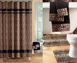 Amazon Shower Curtains Amazon Com Fabulous Black Brown Jungle Animal Leopard Print