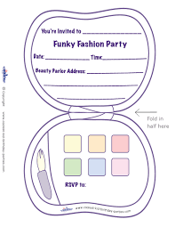 printable fashion makeup invitation coolest free printables for
