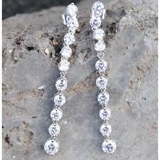 dangler earring diamond drop sterling silver dangler earrings
