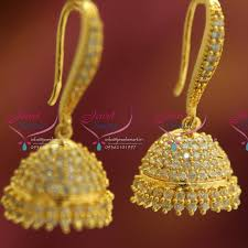 fancy jhumka earrings er4114 hook american diamond fancy sparkling fancy jhumka earrings