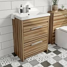 clarity walnut vanity drawer unit with basin 600mm victoriaplum com