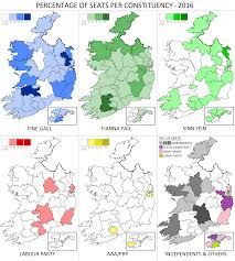 Election 2016 Map by Irish General Election 2016 Seats Won Per Constituency Map 1936
