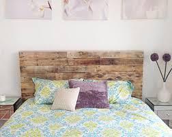Reclaimed Wood Headboard Pallet Headboard Etsy