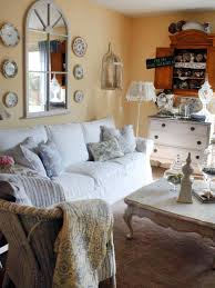 home decorating ideas for living room with photos shabby chic living rooms hgtv