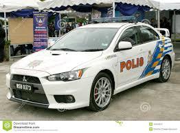mitsubishi lancer evolution a car royal malaysian police mitsubishi lancer evolution editorial