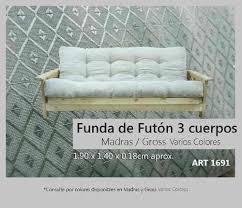 comprar futon funda futon 3 cuerpos madras gross varios colores