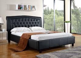 Black King Platform Bed King Platform Bed With Headboard Darcy Pu Platform Bed With Tufted