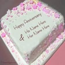 wedding wishes cake 1st wedding anniversary wishes name cake image
