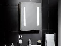 linden illuminated led cabinet bathroom mirror with lights 500mm w