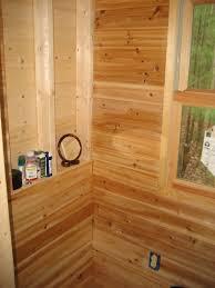 Log Siding For Interior Walls Life In 120 Square Feet Tiny Interior Design