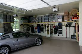 need a place for your tool here are some applicable garage inspiring moneky bars storage system with decorative yellow line for cool garage interior