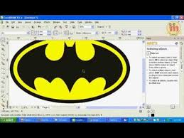 tutorial membuat logo coreldraw x5 belajar corel draw x5 membuat logo batman new corel draw