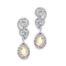 earrings for prom best selling scroll wedding or prom earrings with ab