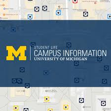 University Of Michigan Parking Map by Campus Map Campus Information Campus Map Campus Information