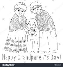 happy grandparents day card poster cute stock vector 319311086