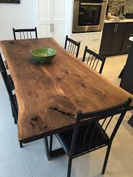 Walnut Dining Room Set Magnificent Stylish Dining Table Wood Black Walnut With Trapezoid