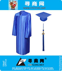 blue cap and gown 2016 master economy shiny royal blue graduation gown cap and