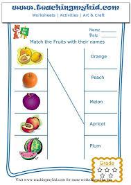 printable worksheet english fruit teachingmykid com