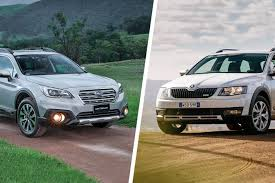 subaru outback touring subaru outback vs skoda scout comparison review